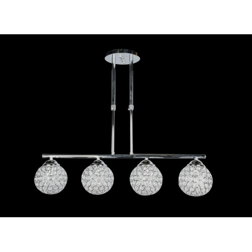 Modern ceiling light with beads - C18-4