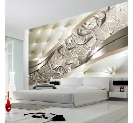 Vlies Fototapete 3 Farben zur Auswahl - Top - Tapete - Wandbilder XXL - Wandbild - Bild - Fototapeten - Tapeten - Wandtapete - Wand - Abstrakt Leder