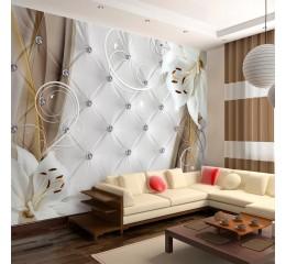 Vlies Fototapete 3 Farben zur Auswahl - Top - Tapete - Wandbilder XXL - Wandbild - Bild - Fototapeten - Tapeten - Wandtapete - Wand - Steppmuster Blumen Diamant