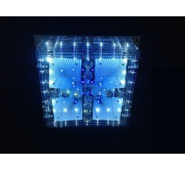 Modern ceiling light with LED and Mp3 - C7-18(60x60cm)