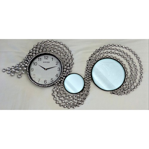 Decorative Wall Clock S1 with Mirror - approx.100 cm diameter
