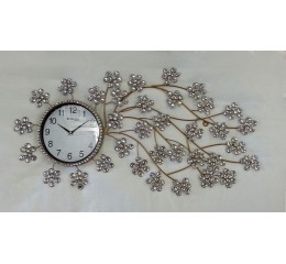 Decorative Wall Clock S2 (golden) - approx.100 cm diameter