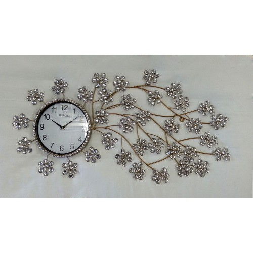 Decorative Wall Clock S2 (golden) - approx.100 cm diameter