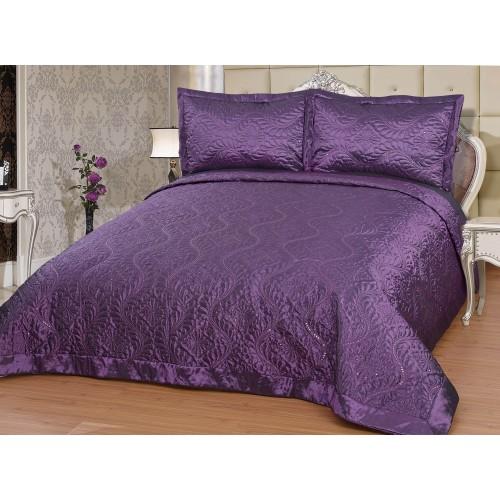 Bedspread Diamant purple - 250 x 260 cm