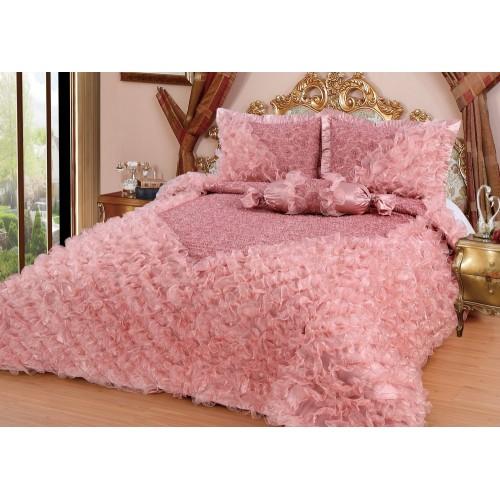 Bedspread Gelincik Deluxe - Pink - 250 x 260 cm