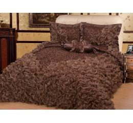 Bedspread Gelincik Deluxe - Brown - 250 x 260 cm