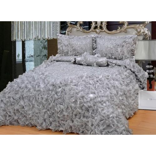 Bedspread Gelincik Deluxe - Gray - 250 x 260 cm