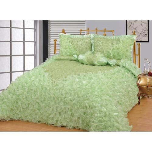 Bedspread Gelincik Deluxe - Green - 250 x 260 cm