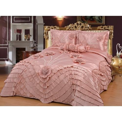 Bedspread Alev Pink 250 x 260 cm