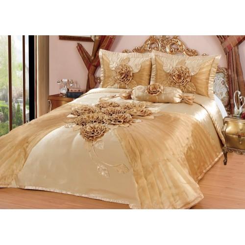 Bedspread Hülya Gold 250x260 cm