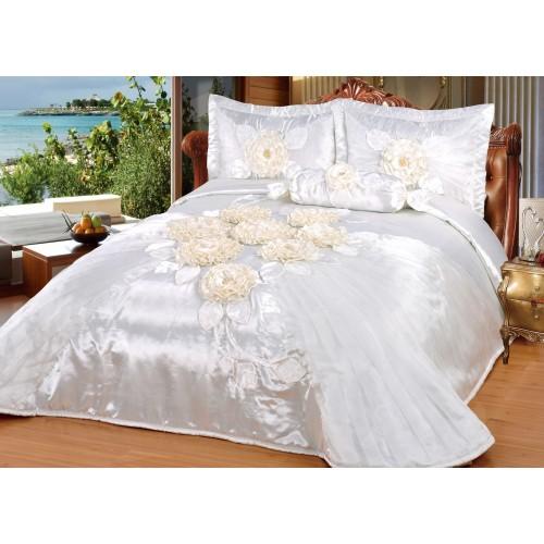 Bedspread Hülya Cream 260x250 cm