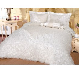 Bedspread Günes Cream / White 250x260cm