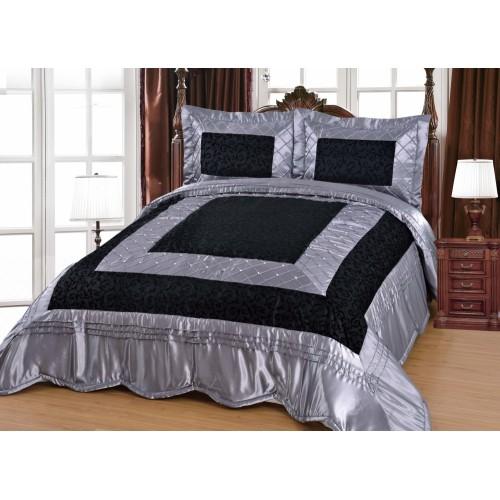 Bedspread Zümrüt Gray / Black - 260x250cm