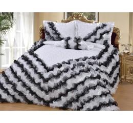Bedspread Gelincik Deluxe - Black-White 250 x 260 cm