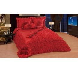 Bedspread-Set Sibel Red 250x260 cm