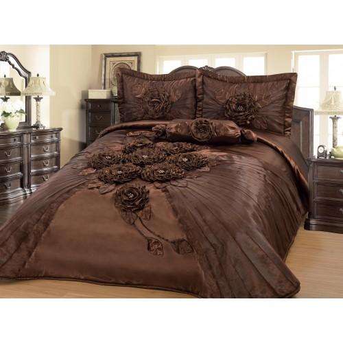 Bedspread Hülya Brown 250x260 cm