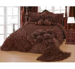 Bedspread-Set Gelincik Star - Brown - 250 x 260 cm