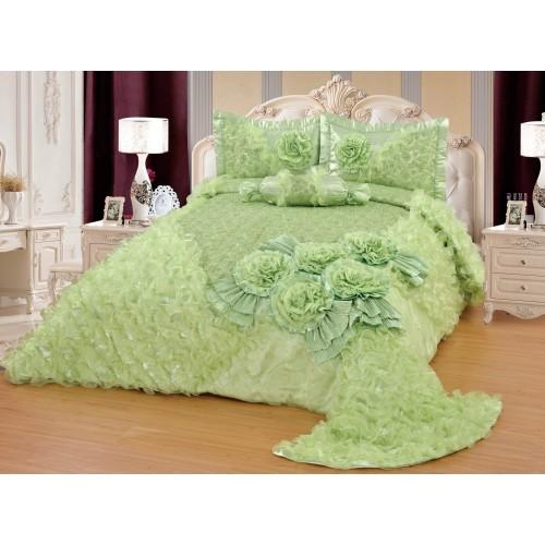 Bedspread-Set Gelincik Star Light Green 250 x 260 cm
