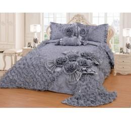 Bedspread-Set Gelincik Star - Gray - 250 x 260 cm