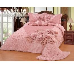 Bedspread-Set Gelincik Star - Pink - 250 x 260 cm