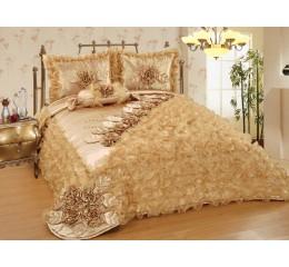 Bedspread-Set Sibel Gold 250cmX260 cm