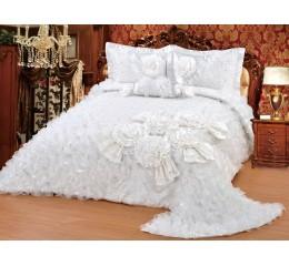 Bedspread-Set Gelincik Star - Cream - 250 x 260 cm