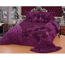 Bedspread-Set Gelincik Star - Purple - 250 x 260 cm