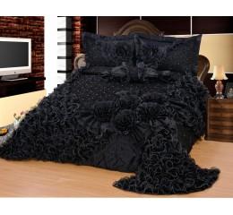 Bedspread-Set Gelincik Star Black 250 x 260 cm