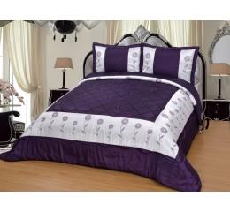 Bedspread - Bahar Purple - White 250 x 260 cm