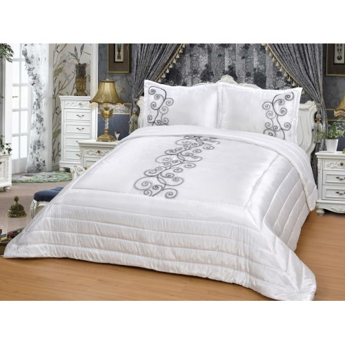 Bedspread - Hayel - White - 250 x 260 cm