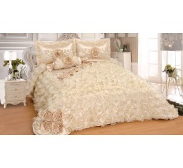 Bedspread-Set Sibel Ecru 250cm x 260 cm