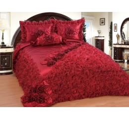 Bedspread-Set Sibel Burgundy 250 x 260 cm